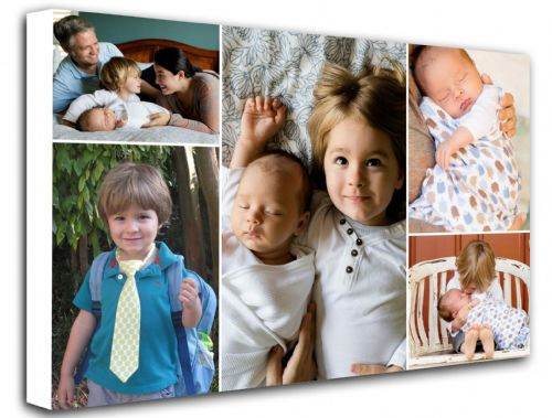Five Photo Collage Canvas